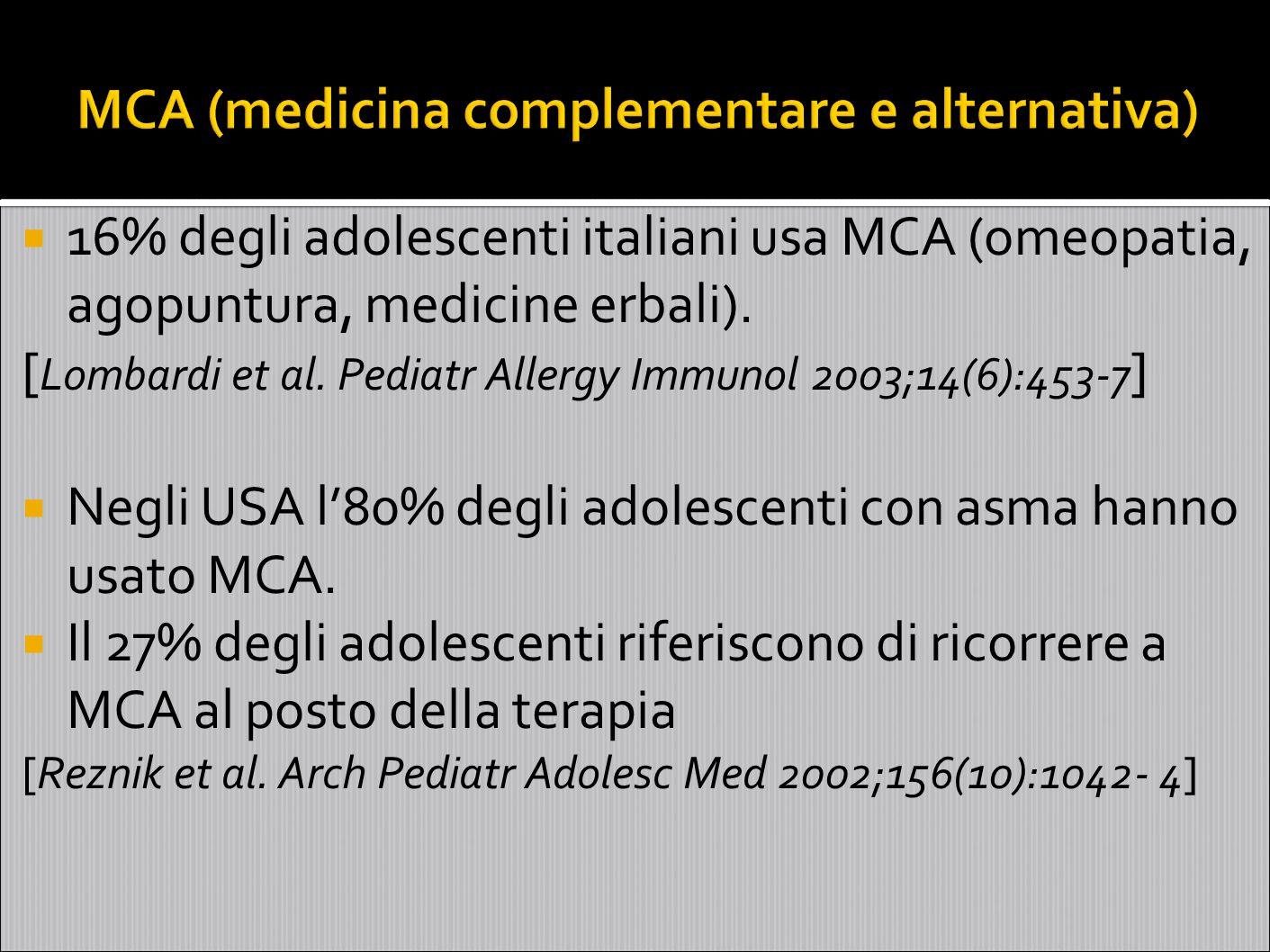 MCA (medicina complementare e alternativa)