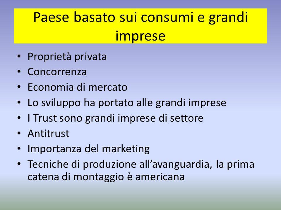 Paese basato sui consumi e grandi imprese