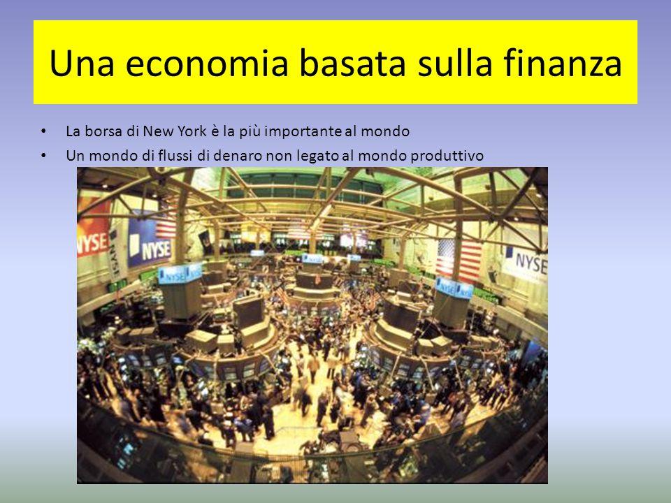Una economia basata sulla finanza