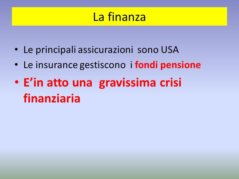 E'in atto una gravissima crisi finanziaria