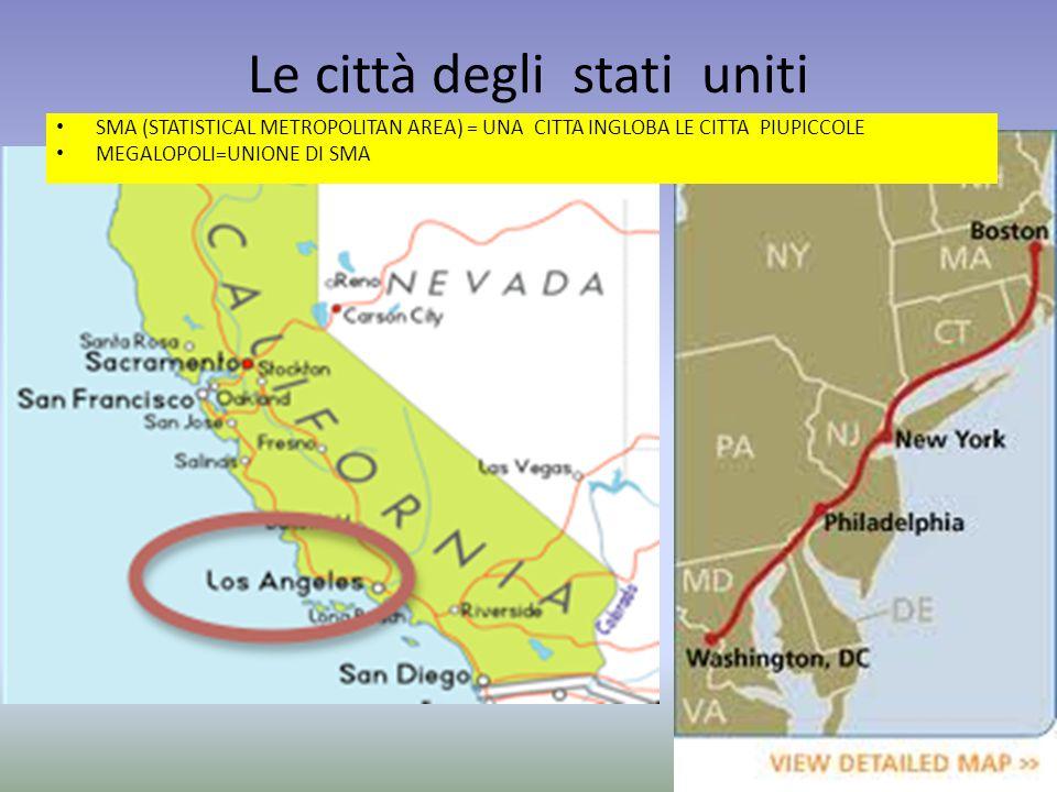 Le città degli stati uniti