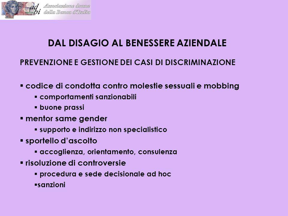 DAL DISAGIO AL BENESSERE AZIENDALE