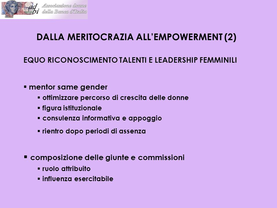 DALLA MERITOCRAZIA ALL'EMPOWERMENT (2)