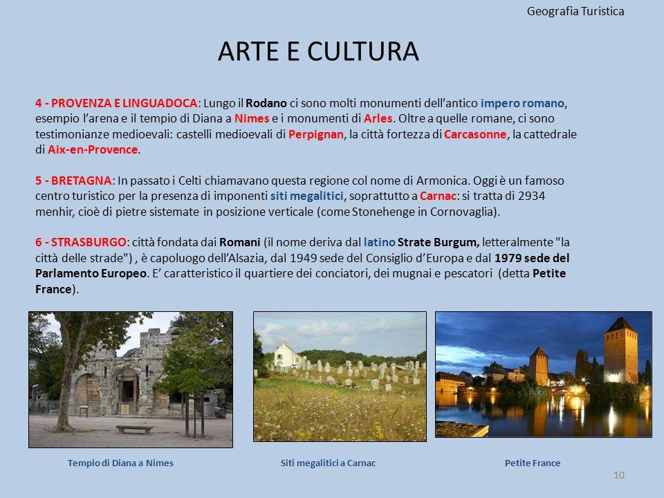 ARTE E CULTURA Geografia Turistica