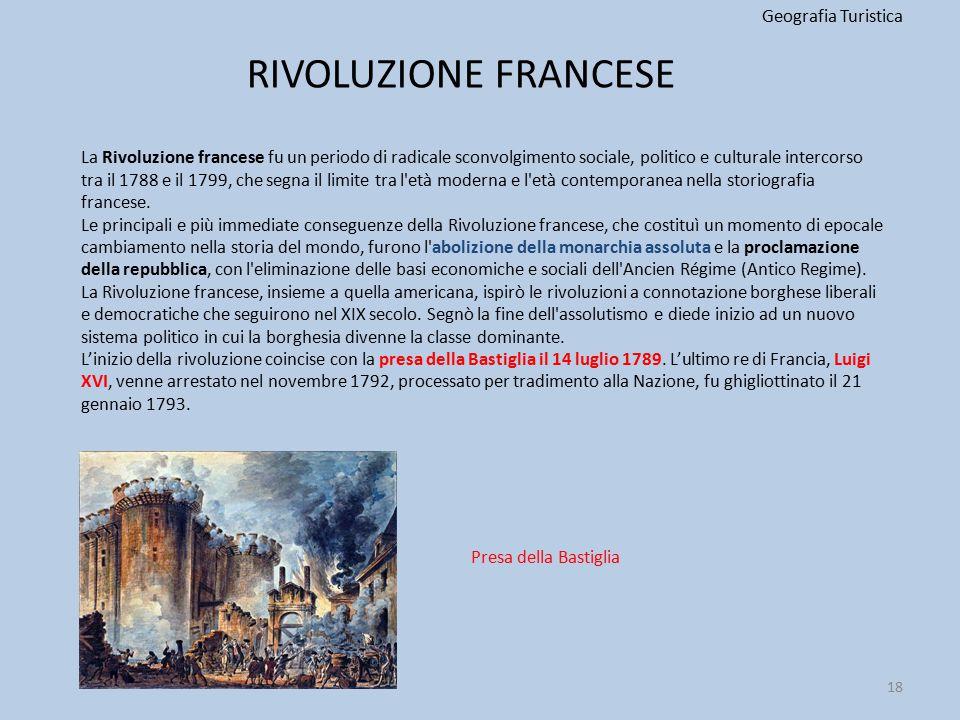 RIVOLUZIONE FRANCESE Geografia Turistica