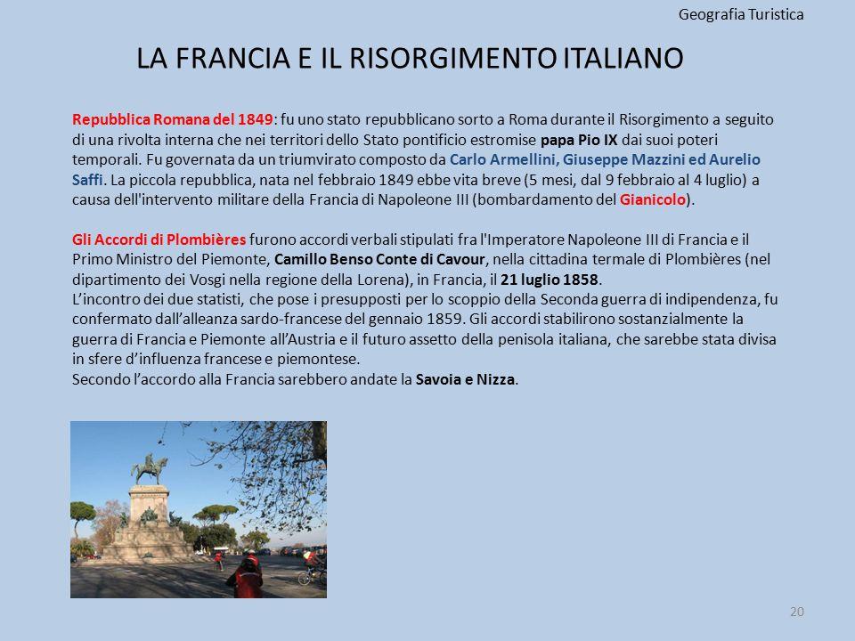 LA FRANCIA E IL RISORGIMENTO ITALIANO