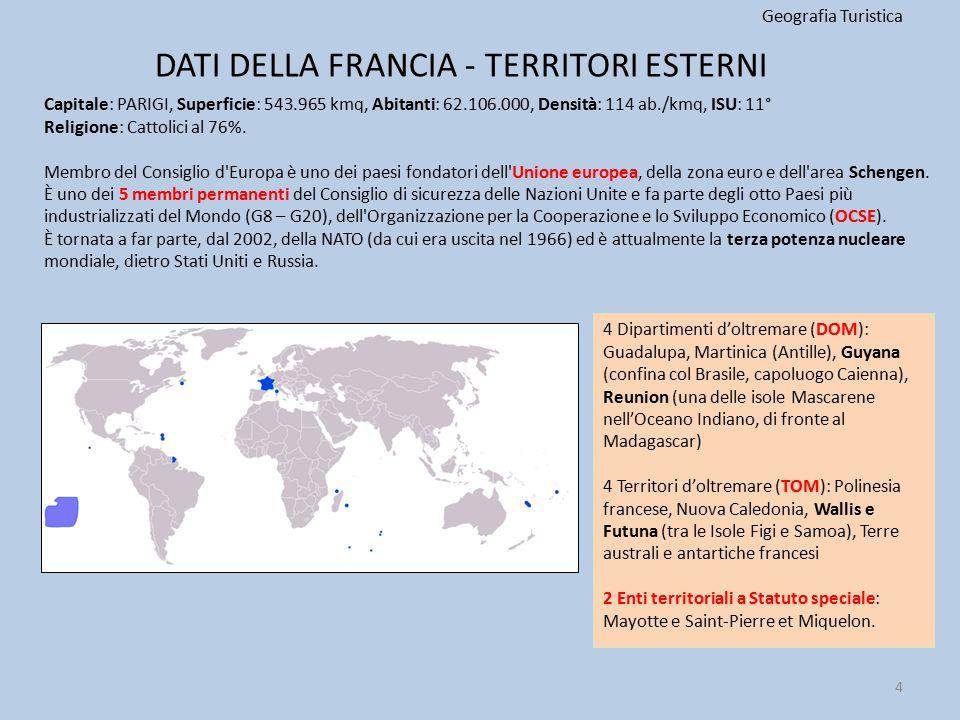 DATI DELLA FRANCIA - TERRITORI ESTERNI