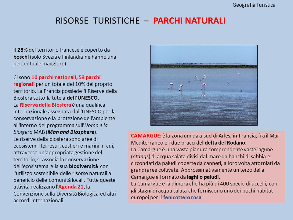 RISORSE TURISTICHE – PARCHI NATURALI