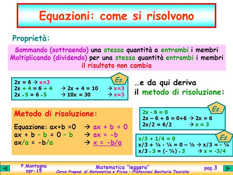 Equazioni: come si risolvono