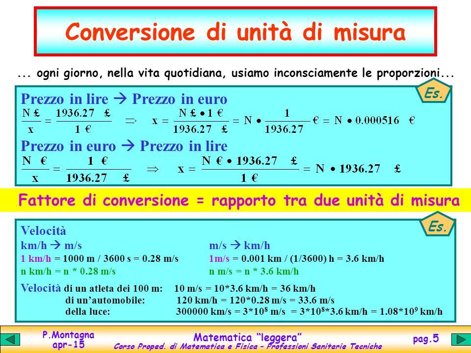 Matematica leggera equazioni proporzioni potenze ppt - Conversione unita di misura portata ...