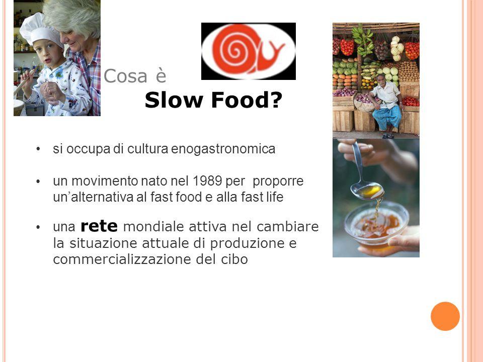 Slow Food Cosa è si occupa di cultura enogastronomica