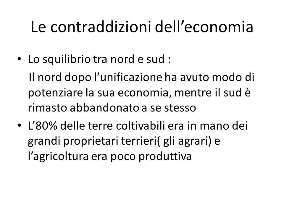 Le contraddizioni dell'economia