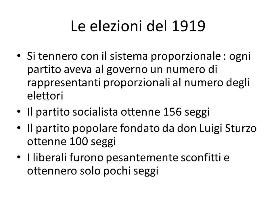 Le elezioni del 1919