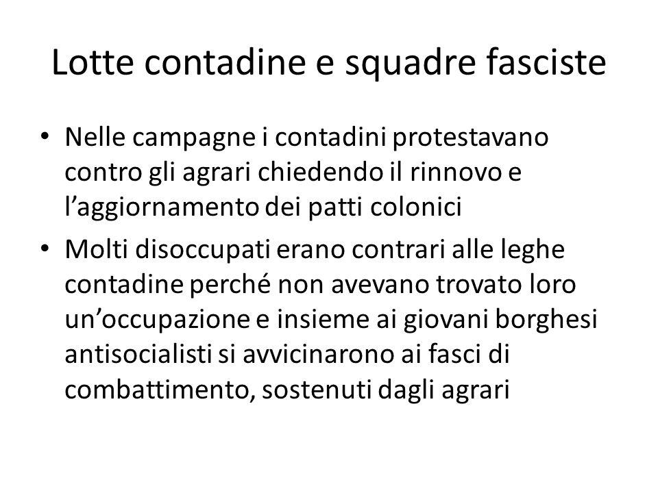 Lotte contadine e squadre fasciste