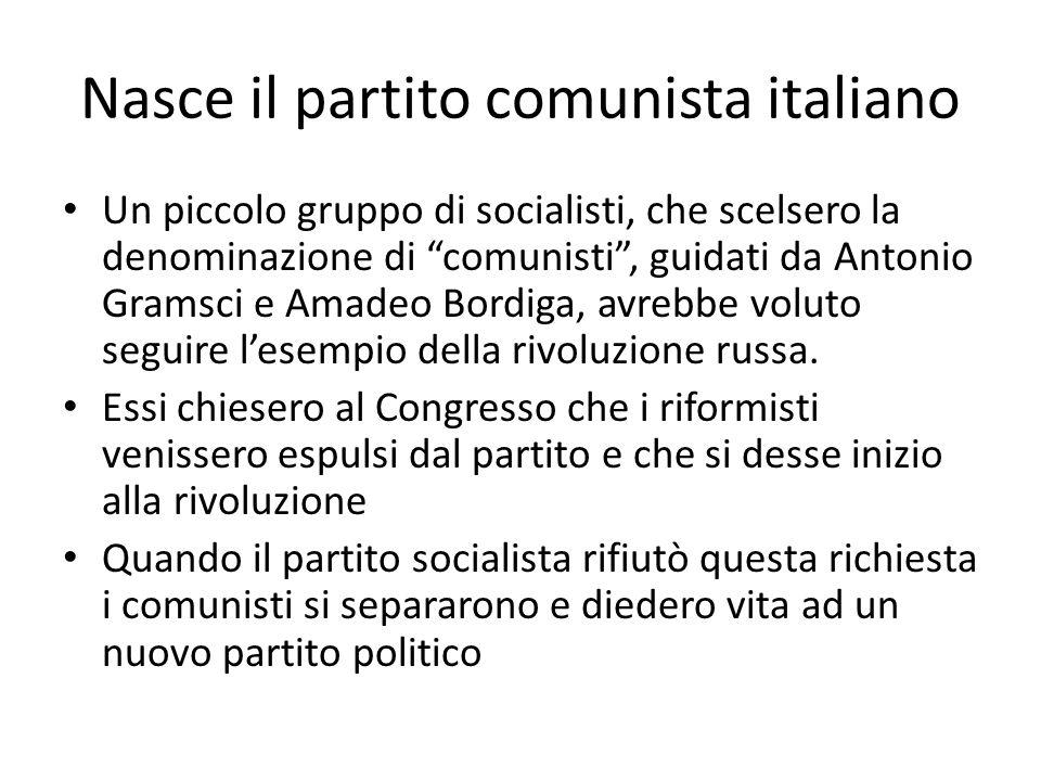 Nasce il partito comunista italiano