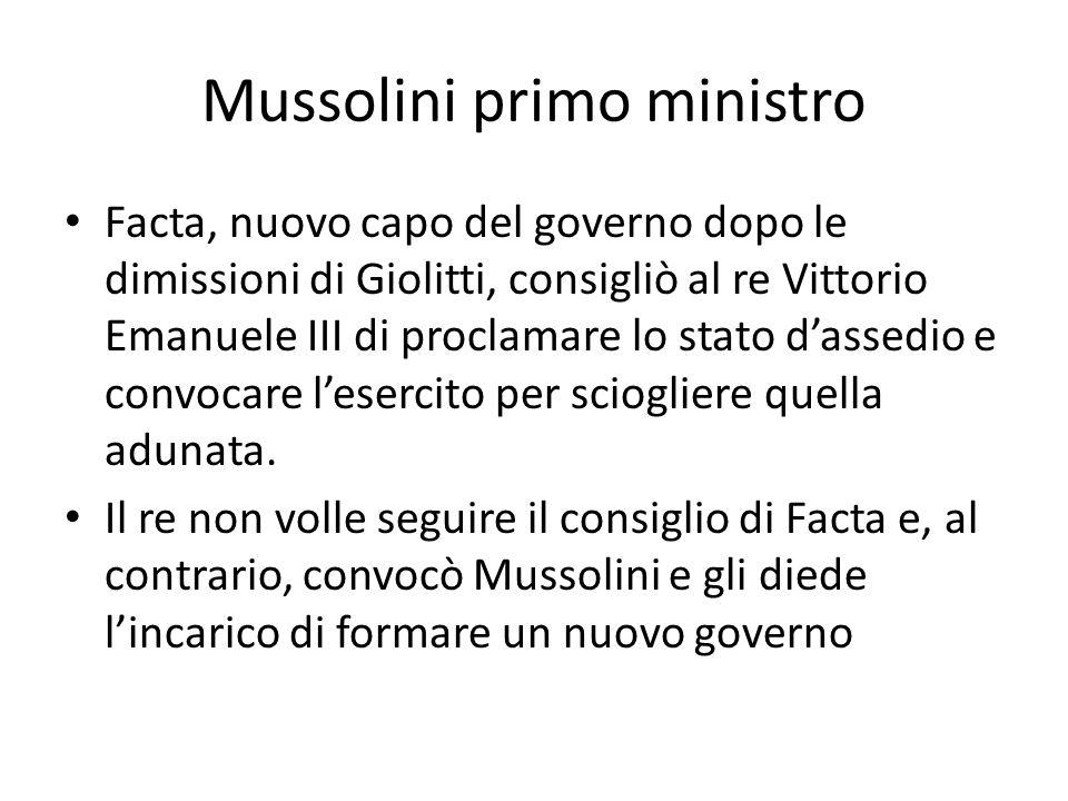 Mussolini primo ministro