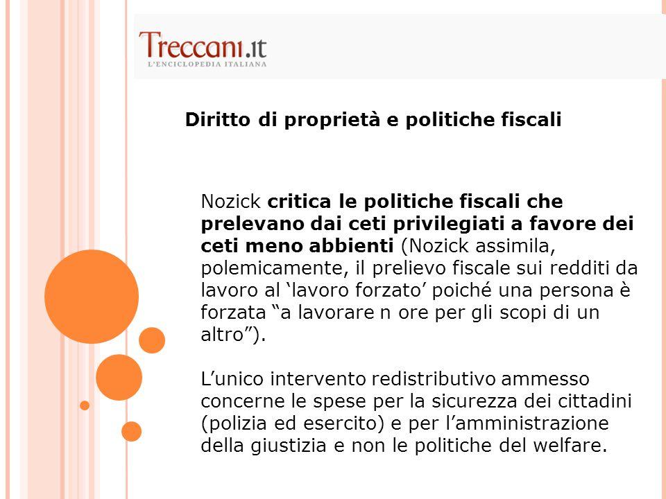 Diritto di proprietà e politiche fiscali