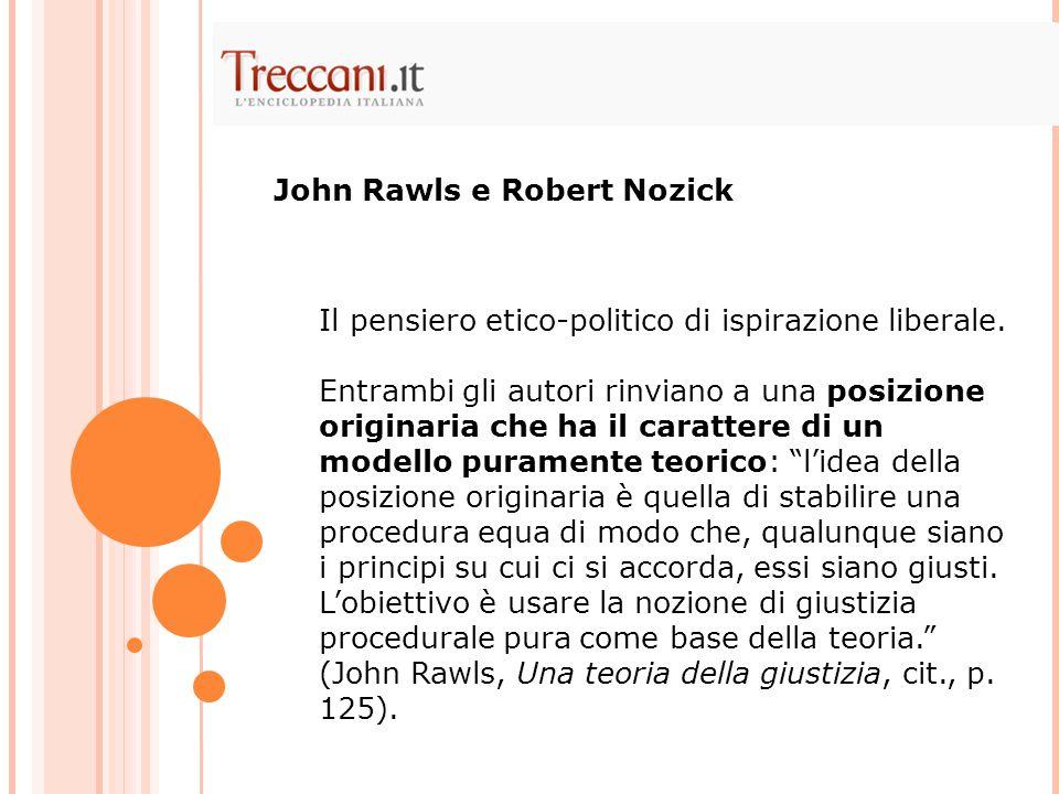 John Rawls e Robert Nozick