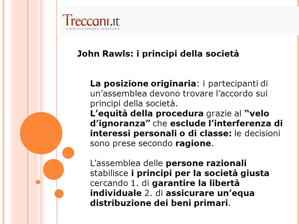 John Rawls: i principi della società