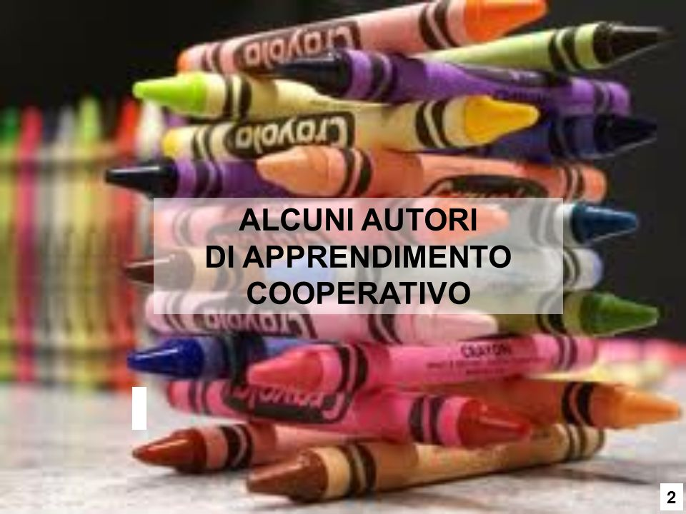 ALCUNI AUTORI DI APPRENDIMENTO COOPERATIVO