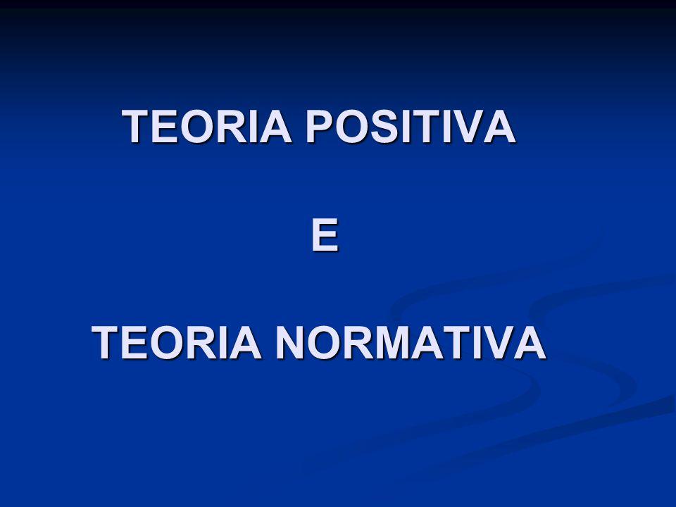 TEORIA POSITIVA E TEORIA NORMATIVA