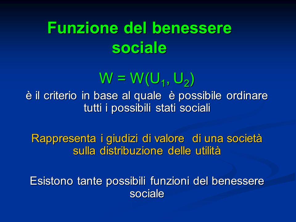 Funzione del benessere sociale