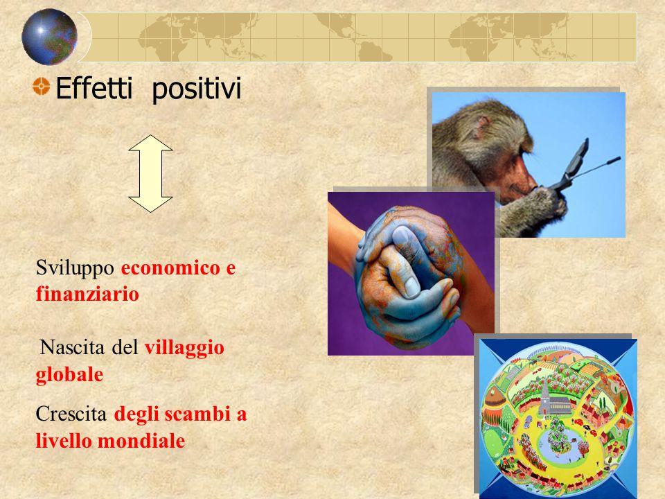 Effetti positivi Sviluppo economico e finanziario