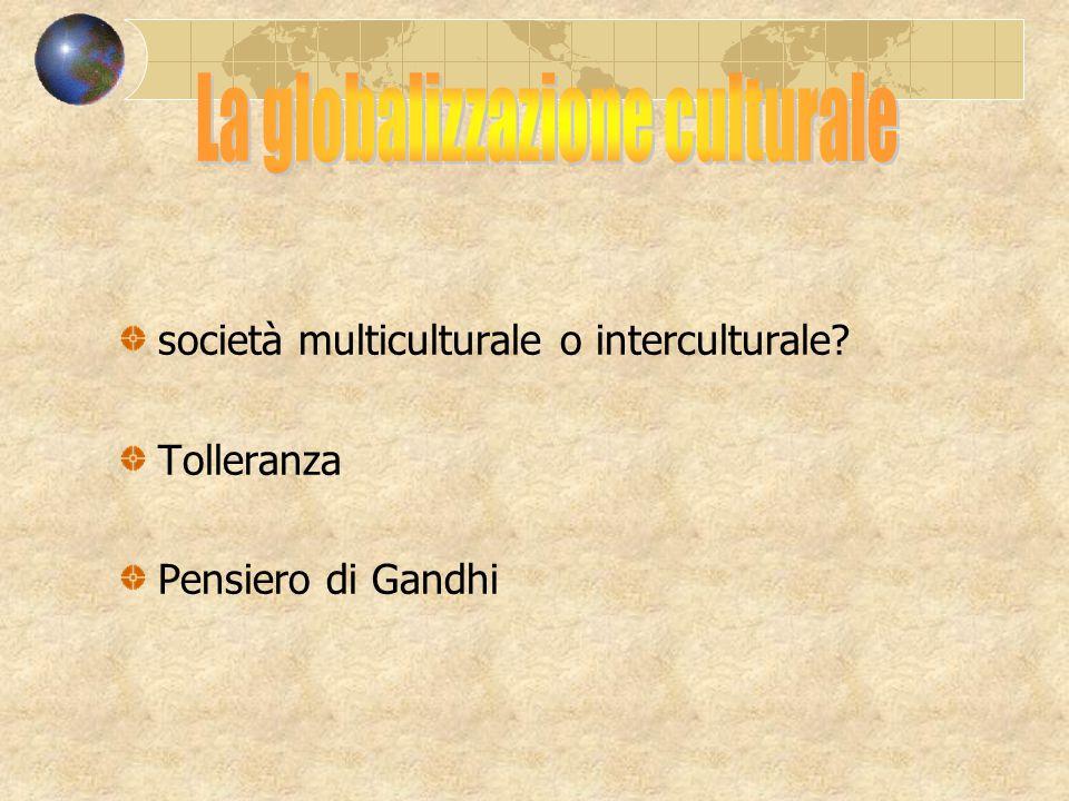 La globalizzazione culturale