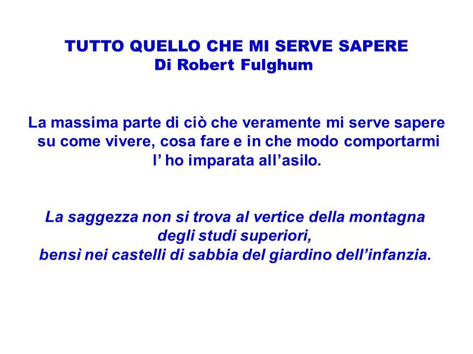 TUTTO QUELLO CHE MI SERVE SAPERE Di Robert Fulghum