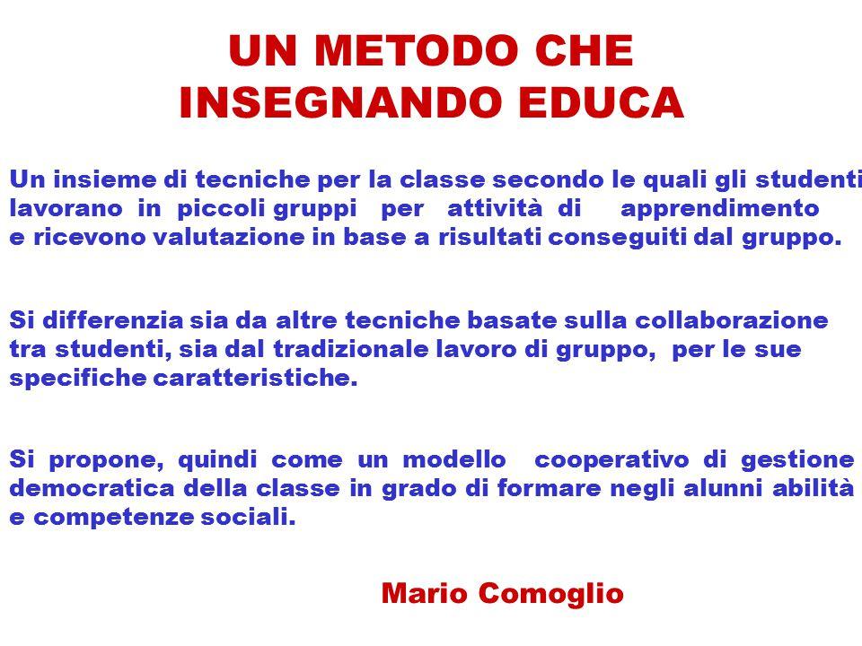 UN METODO CHE INSEGNANDO EDUCA Mario Comoglio