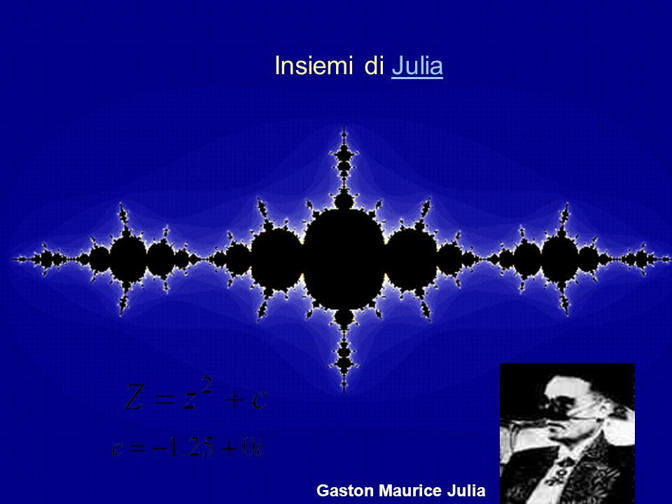 Insiemi di Julia Gaston Maurice Julia