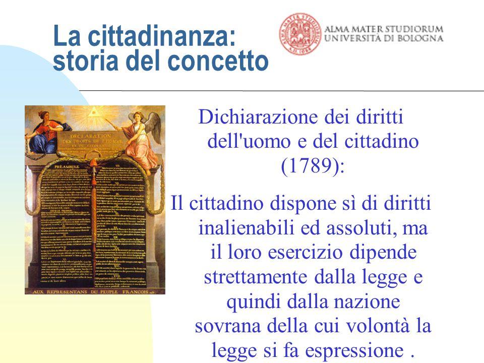 La cittadinanza: storia del concetto