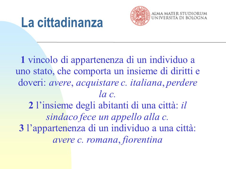 19/03/07 La cittadinanza.