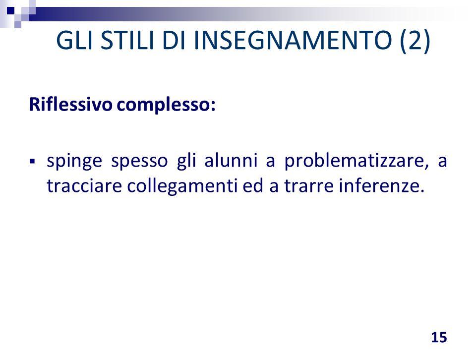 GLI STILI DI INSEGNAMENTO (2)