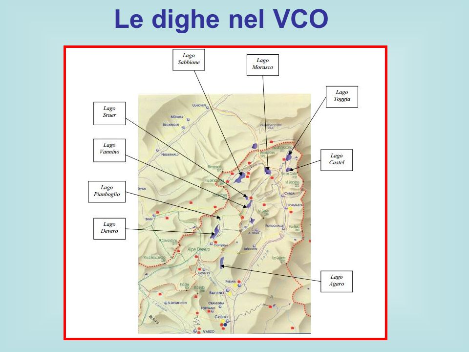 Le dighe nel VCO