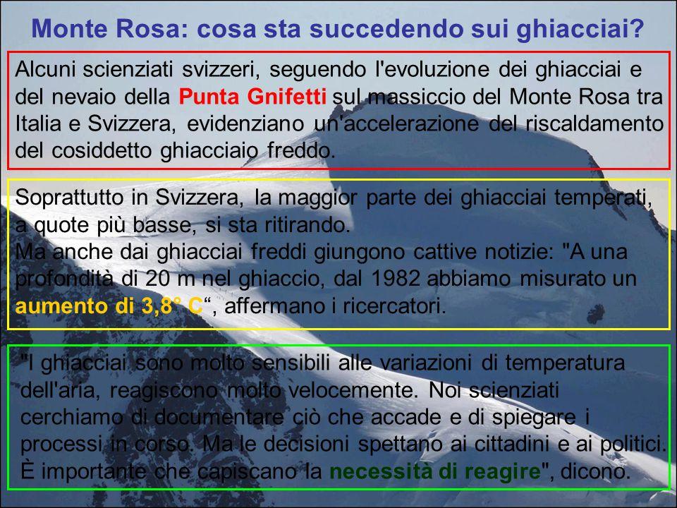 Monte Rosa: cosa sta succedendo sui ghiacciai