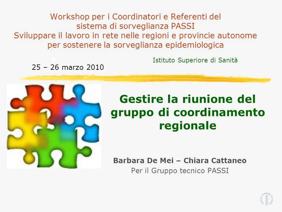 Barbara De Mei – Chiara Cattaneo Per il Gruppo tecnico PASSI