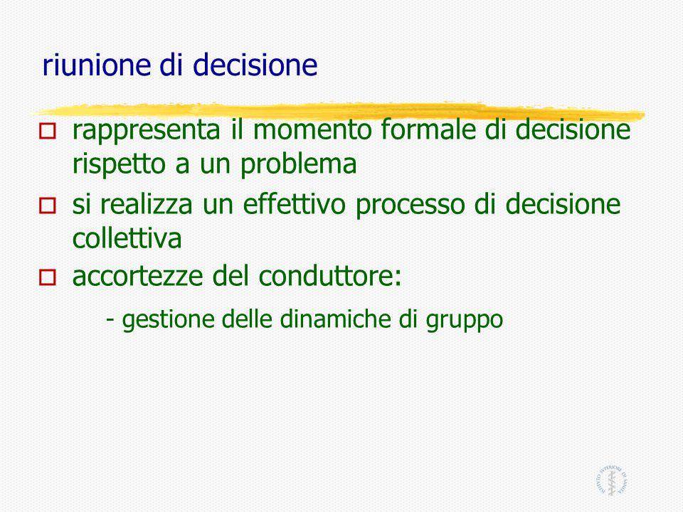 - gestione delle dinamiche di gruppo