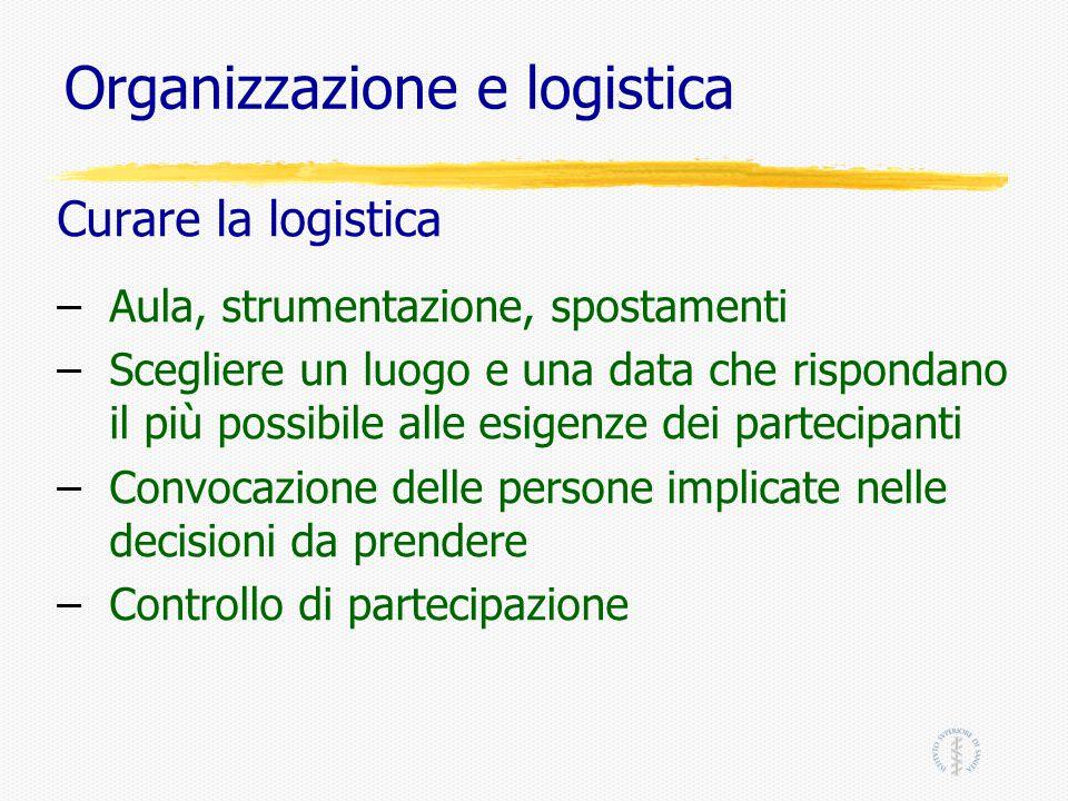 Organizzazione e logistica