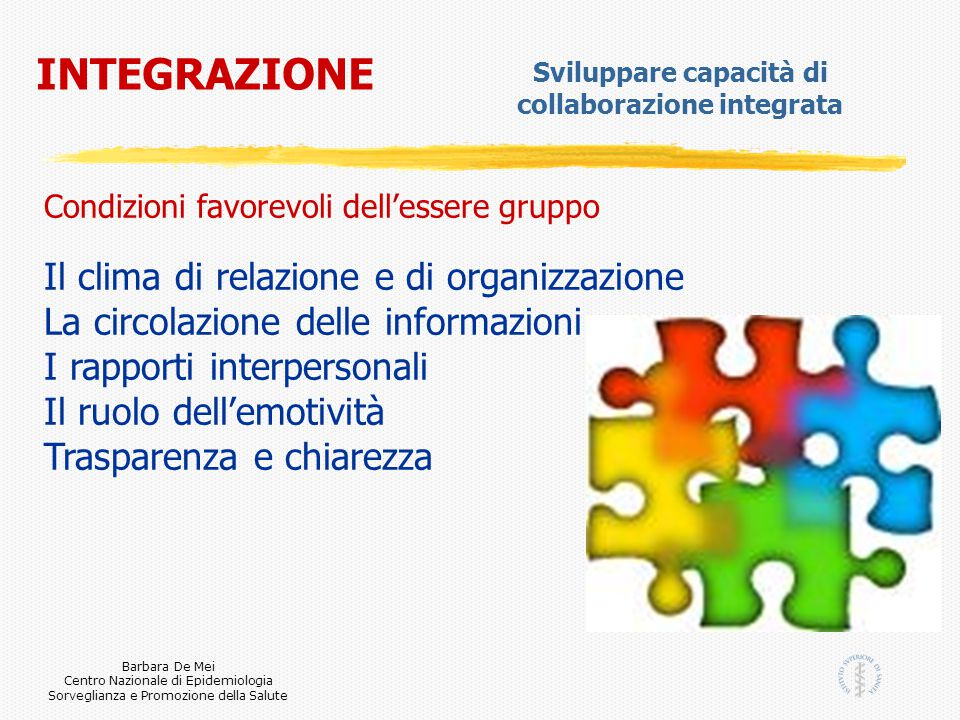 Sviluppare capacità di collaborazione integrata