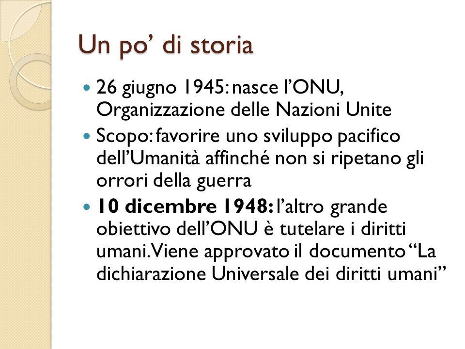Un po' di storia 26 giugno 1945: nasce l'ONU, Organizzazione delle Nazioni Unite.