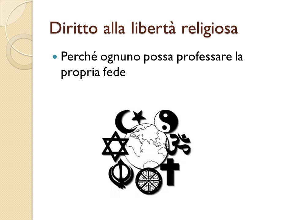 Diritto alla libertà religiosa