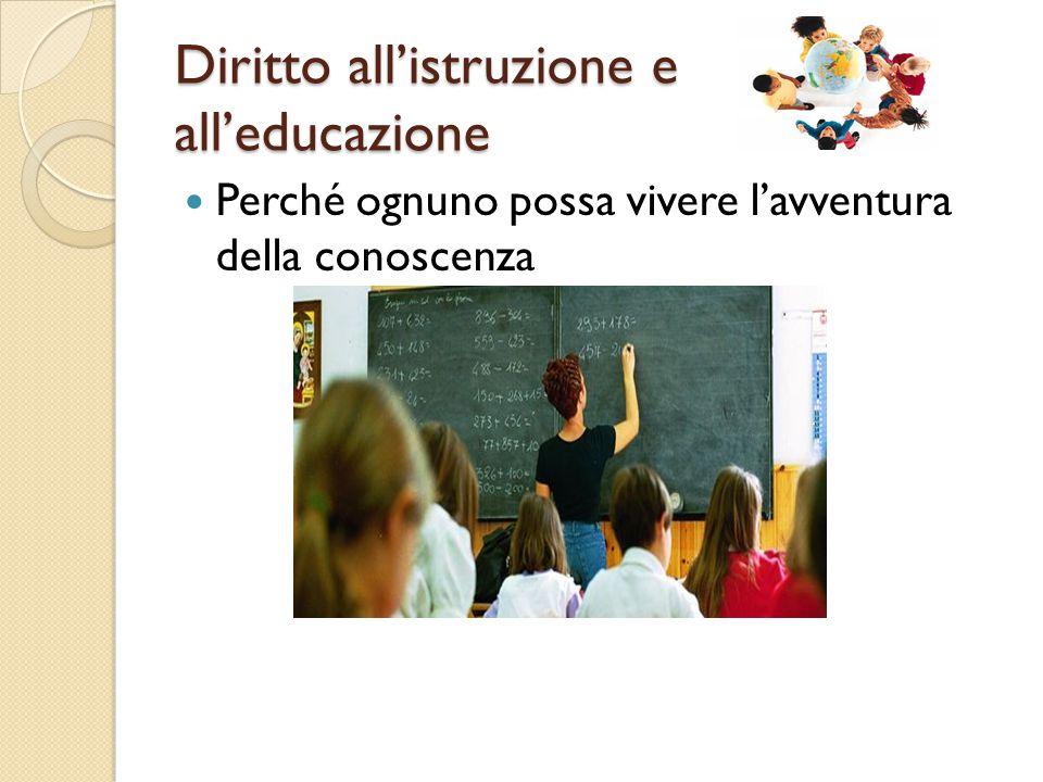 Diritto all'istruzione e all'educazione