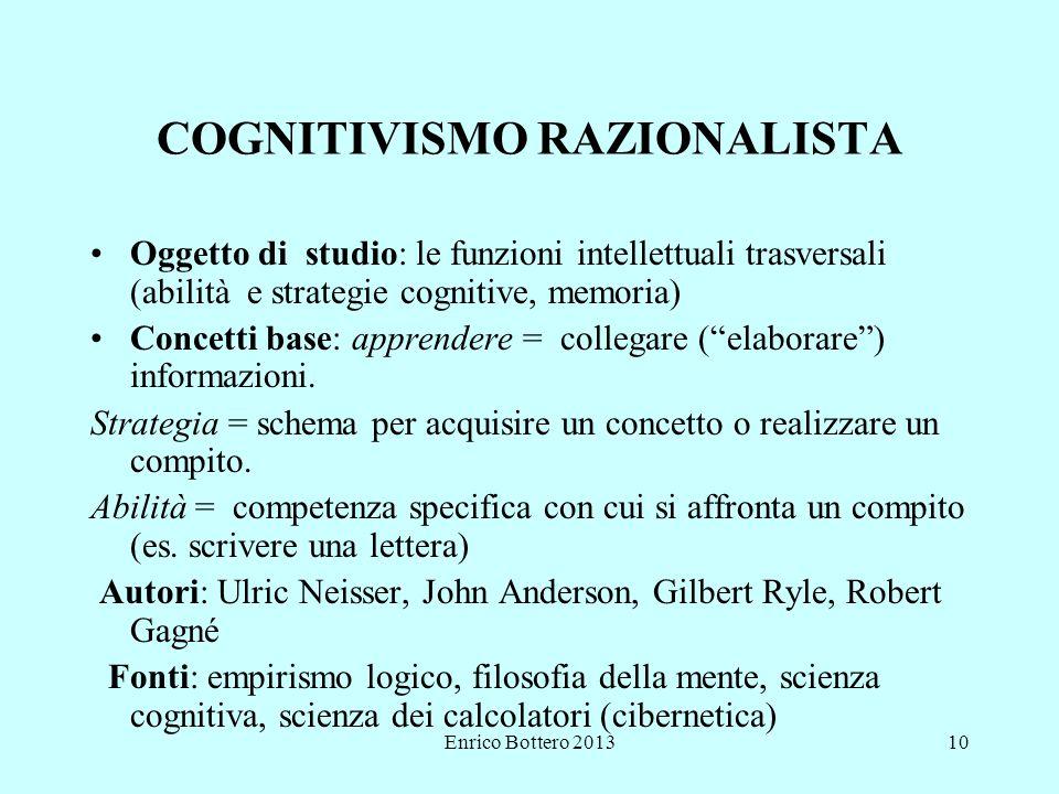 COGNITIVISMO RAZIONALISTA