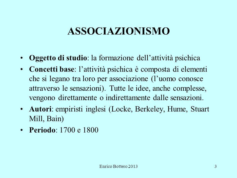 ASSOCIAZIONISMO Oggetto di studio: la formazione dell'attività psichica.