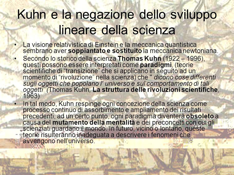 Kuhn e la negazione dello sviluppo lineare della scienza