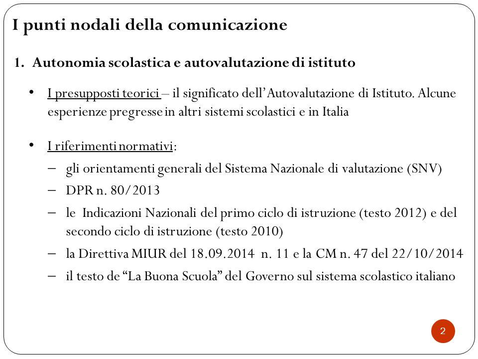 I punti nodali della comunicazione