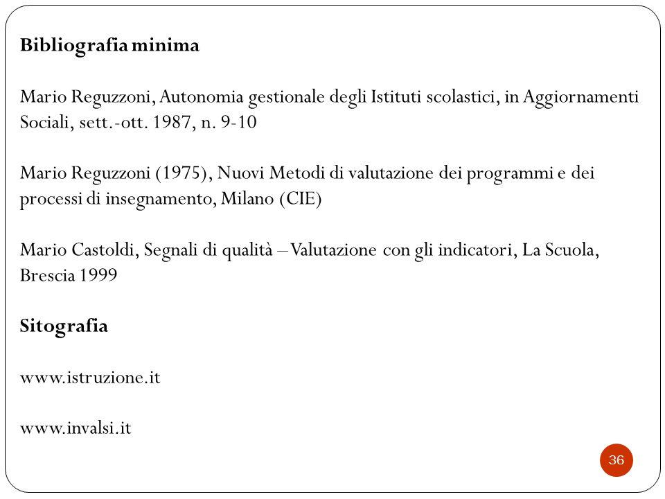 Bibliografia minima Mario Reguzzoni, Autonomia gestionale degli Istituti scolastici, in Aggiornamenti Sociali, sett.-ott. 1987, n. 9-10.