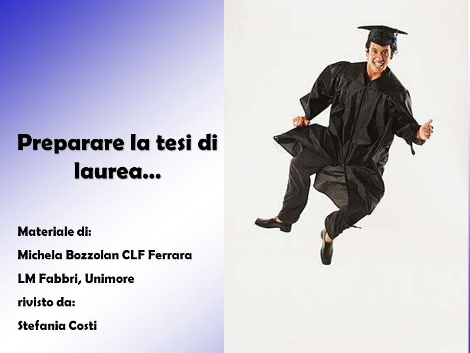 Preparare la tesi di laurea…