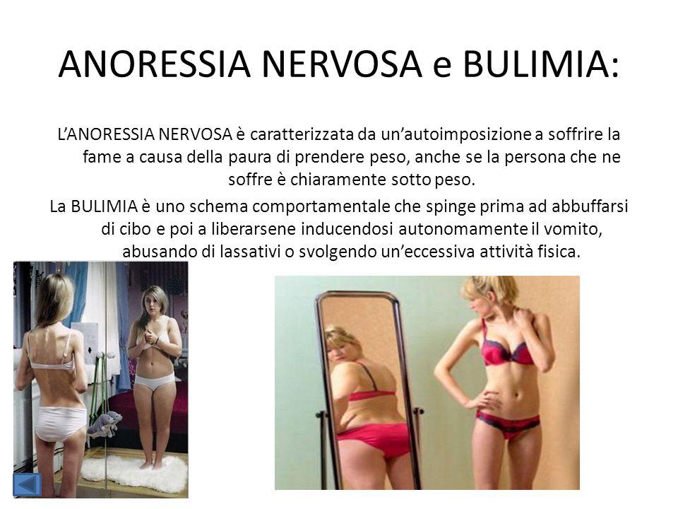 ANORESSIA NERVOSA e BULIMIA: